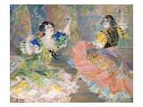Deux danseuses espagnoles, jouant des castagnettes Giclee Print by Juan Roig y Soler