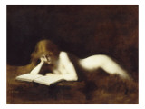 La liseuse Giclee Print by Jean Jacques Henner