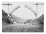 Le viaduc de Garabit en construction Lámina giclée por Alphonse Terpereau