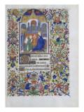 Heure de François de Guise. Annonciation Giclee Print