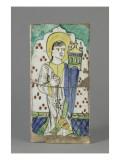 Tile Coating: the Visitation, St. Donor with a Censer Giclee Print