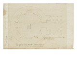Le plan du Panth&#233;on d&#39;Agrippa &#224; Rome Gicl&#233;e-Druck von Herman Vischer