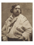 Th&#233;ophile Gautier (1811-1872) &#224; la blouse blanche, &#233;crivain fran&#231;ais Reproduction proc&#233;d&#233; gicl&#233;e par Gaspard F&#233;lix Tournachon
