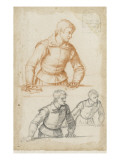 Trois demi-figures d'hommes, debout, les mains posées sur une table Giclee Print by Matteo Rosselli