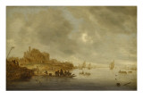 Le Bac Giclée-Druck von Salomon Van Ruysdael