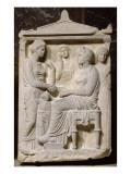 Stèle funéraire de Bacô, Socratès et Aristoniké Reproduction procédé giclée