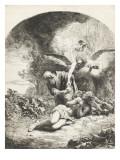Le sacrifice d'Abraham Lámina giclée por Ferdinand Bol