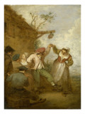 La Vraie gaieté Giclée-tryk af Jean Antoine Watteau