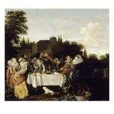 Le festin champêtre Lámina giclée por Dirck Hals