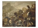 La Rencontre d'Abraham et de Melchisedech Lámina giclée por Giovanni Benedetto Castiglione