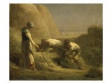 Les Botteleurs de foin Giclee Print by Jean-Fran&#231;ois Millet
