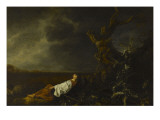 The Shepherdess Asleep at the Approach of the Storm Giclee Print
