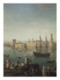 L&#39;entr&#233;e du port de Marseille Gicl&#233;e-Druck von Claude-Joseph Vernet