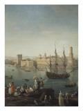 L'entrée du port de Marseille Giclée-Druck von Claude Joseph Vernet