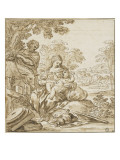 The Rest of the Holy Family on the Flight into Egypt Giclee Print by Antonio Domenico Gabbiani