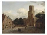 L'église Sainte-Aldegonde à Emmerich (Allemagne) Giclée-Druck von Jan Van Der Heyden