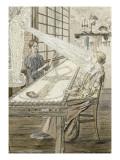Le Rayon sur la brodeuse de dentelle Giclee Print by Carlos Schwabe