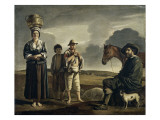 La halte du cavalier Giclee Print by Louis Le Nain