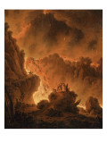 L'éruption du Vésuve Reproduction procédé giclée par Michael Wutky