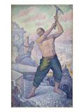 L'ouvrier ou les démolisseurs Gicléetryck av Paul Signac