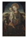 La Vierge d'Humilité et l'Enfant adorés par Lionello d'Este Giclee Print by Jacopo Bellini