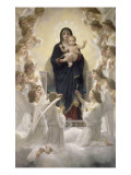 La Vierge aux anges Giclee Print by William Adolphe Bouguereau