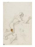 Deux figures nues assises et jeune homme nu Giclée-tryk af Francesco Solimena