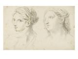 Deux têtes de femme Giclée-Druck von Arnould de Vuez