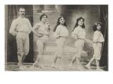 La troupe Andalucia, merveilleux acrobates gymnasiarques (1908) Reproduction procédé giclée