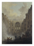 The Burning of the Opera at the Palais-Royal in 1781 Giclee Print by Hubert Robert
