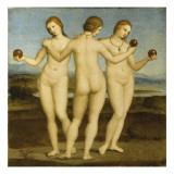 Les trois Grâces Giclée-tryk af Raffaello Sanzio