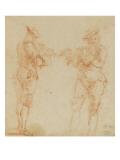 Deux hommes debout jouant de la flûte Giclee Print by Nicolas Lancret