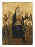 La Vierge et l'Enfant avec huit saints Reproduction procédé giclée par du retable de san Niccolo Maître