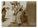 Travel in Tunisia: Women Veiled in a Street in Tunis Giclee Print by Henri Jacques Edouard Evenepoel