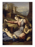La Vierge au voile bleu Giclée-tryk af Raffaello Sanzio