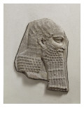 The Palace of Sargon Ii: Relief Head of a Dignitary Reproduction procédé giclée