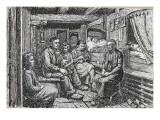 La veillée chez Jacques Sembel à Montcheneix Reproduction procédé giclée