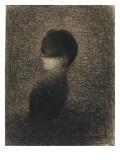 La Voilette Giclée-tryk af Georges Seurat