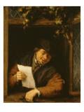 Le Liseur à la fenêtre Giclée-Druck von Adrien Van Ostade