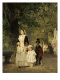 La promenade aux Tuileries Giclée-Druck von Ludwig Knaus
