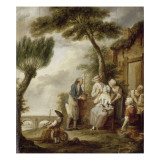 Le Jardinier Giclee Print by Fran&#231;ois Louis Joseph Watteau