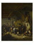 Le Maître d'école Giclée-Druck von Adrien Van Ostade