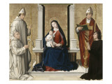 The Virgin and Child with Two Saints and Two Donors Reproduction procédé giclée