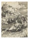 Le monstre marin (L'Enlèvement d'Amymoné) Giclee Print by Albrecht Dürer