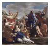 Les Israélites recueillant la manne Giclee Print by Giovanni Francesco Romanelli