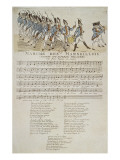 La marche des marseillais. Reproduction proc&#233;d&#233; gicl&#233;e