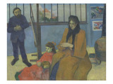 The Workshop Schuffenecker or Family Schuffenecker Giclee Print by Paul Gauguin