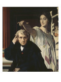 The Composer Cherubini and the Muse of Lyric Poetry Giclee Print by Jean-Auguste-Dominique Ingres