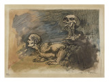 L'Ennemi (de Baudelaire) Gicleetryck av Armand Rassenfosse