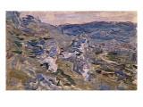 Les côteaux près de Vétheuil Reproduction procédé giclée par Claude Monet